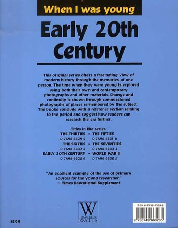 Early 20th Century - When I Was Young S. (Paperback)