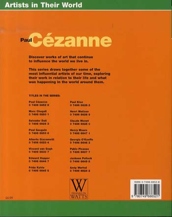 Paul Cezanne - Artists in Their World (Paperback)