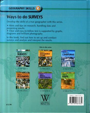 Ways to Do Surveys - Geography Skills 4 (Hardback)