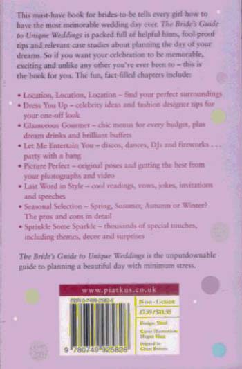 The Bride's Guide To Unique Weddings (Paperback)