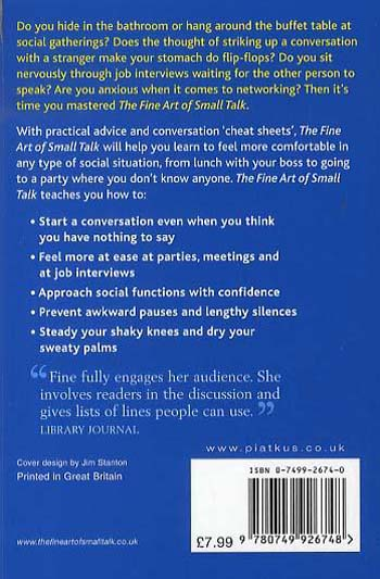 The Fine Art Of Small Talk: How to start a conversation in any situation (Paperback)