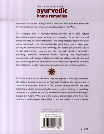 The Complete Book Of Ayurvedic Home Remedies: A comprehensive guide to the ancient healing of India (Paperback)