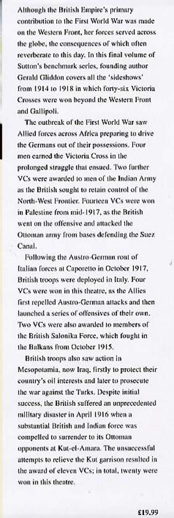 VCs of the First World War: The Sideshows (Hardback)