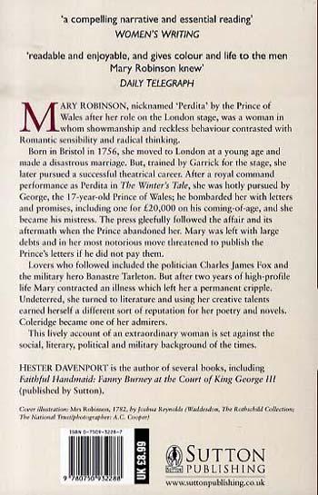 The Prince's Mistress, Perdita: A Life of Mary Robinson (Paperback)