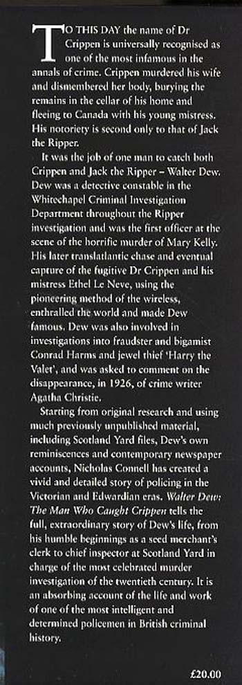 Walter Dew: The Man Who Caught Crippen (Hardback)