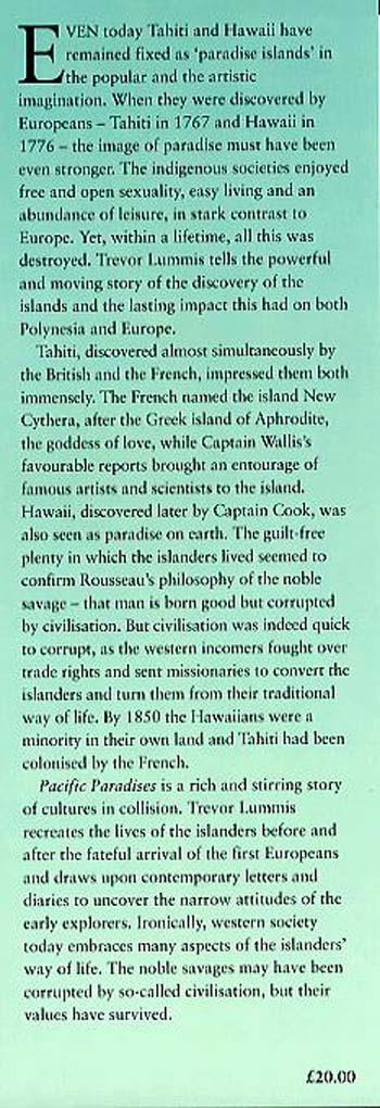 Pacific Paradises: The Discovery of Tahiti & Hawaii (Paperback)