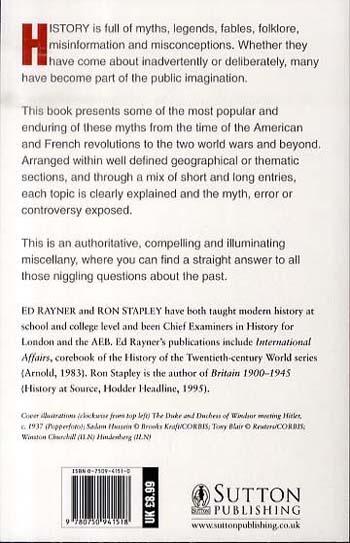Debunking History: 152 Popular Myths Exploded (Paperback)