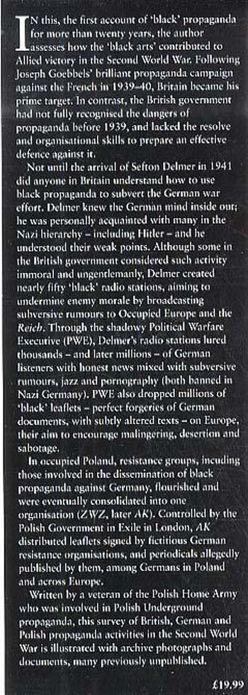 Black Propaganda in the Second World War (Hardback)