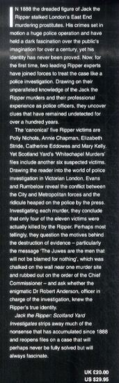 Jack the Ripper: Scotland Yard Investigates (Hardback)