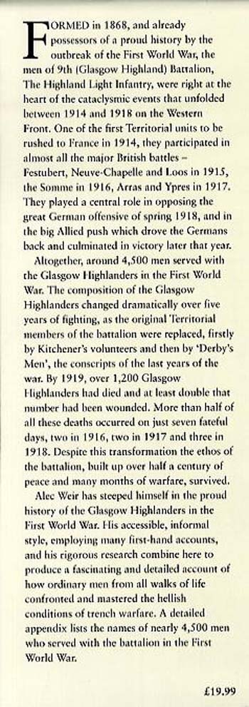 Come on Highlanders!: Glasgow Territorials in the Great War (Hardback)