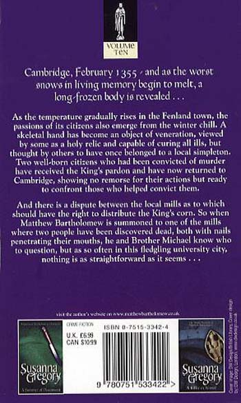The Hand Of Justice: The Tenth Chronicle of Matthew Bartholomew - Chronicles of Matthew Bartholomew (Paperback)