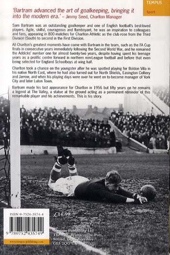 Sam Bartram: The Story of a Goalkeeping Legend (Paperback)