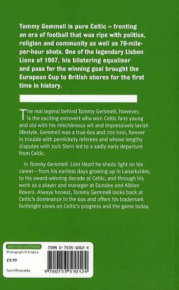 Tommy Gemmell: Lionheart (Paperback)
