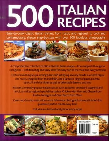 500 Italian Recipes (Hardback)