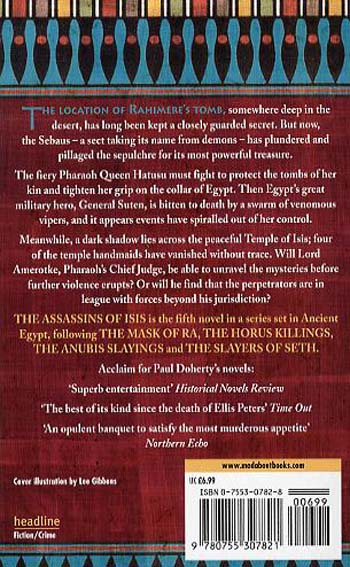 The Assassins of Isis (Amerotke Mysteries, Book 5): A gripping mystery of Ancient Egypt (Paperback)