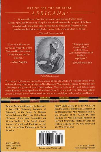 Africana, Arts and Letters: An A-Z Reference of Writers, Musicians, and Artists of the African American Experience (Paperback)
