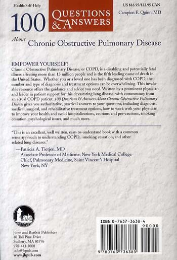 100 Questions & Answers About Chronic Obstructive Pulmonary Disease (COPD) (Paperback)