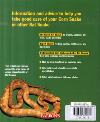 Corn Snakes and Other Rat Snakes - Complete Pet Owner's Manual (Paperback)
