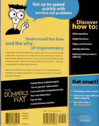 Trigonometry for Dummies (Paperback)
