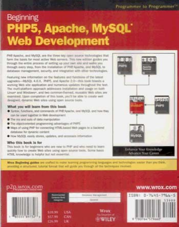 Beginning PHP5, Apache, and MySQL Web Development (Paperback)