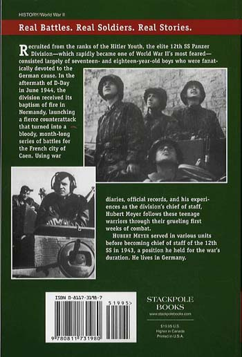 12th Ss, Volume One: The History of the Hitler Youth Panzer Division - Stackpole Military History Series (Paperback)