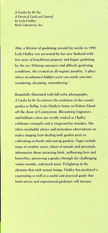 A Garden by the Sea: A Practical Guide and Journal (Hardback)