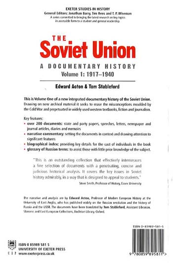 The Soviet Union: A Documentary History Volume 1: 1917-1940 - Exeter Studies in History (Paperback)