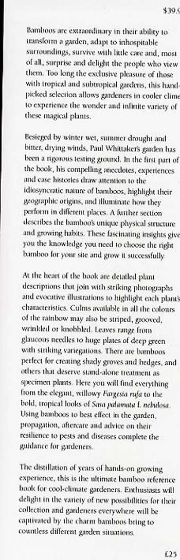 Hardy Bamboos: Taming the Dragon (Hardback)