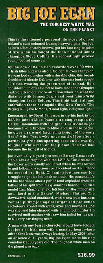 Big Joe Egan: The Toughest White Man on the Planet (Hardback)