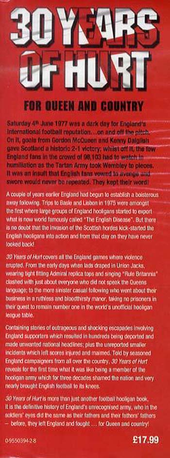 30 Years of Hurt: A History of England's Hooligan Army (Hardback)