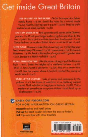 Fodor Great Britain 2005 - Gold Guides (Paperback)