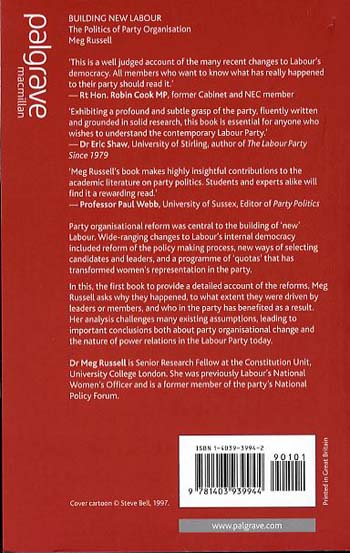 Building New Labour: The Politics of Party Organisation (Paperback)