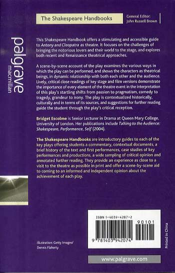 Antony and Cleopatra - Shakespeare Handbooks (Paperback)