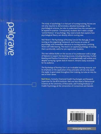 The Psychology of Nursing Care (Paperback)