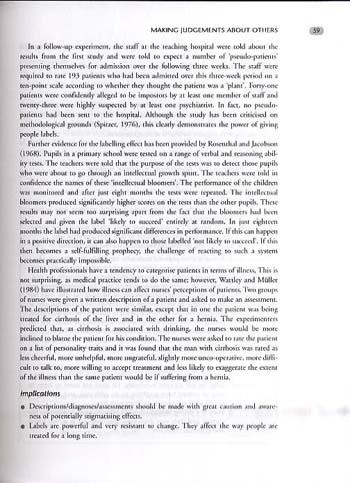 The Psychology of Nursing Care (Paperback)