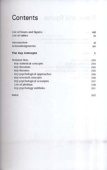 Key Concepts in Psychology - Palgrave Key Concepts (Paperback)