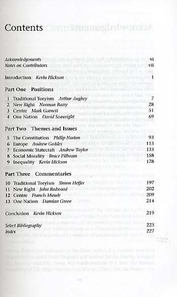 The Political Thought of the Conservative Party since 1945 (Paperback)