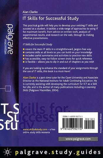 IT Skills for Successful Study - Palgrave Study Skills (Paperback)