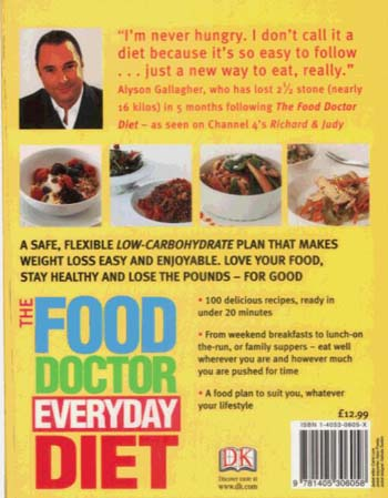 The Food Doctor Everyday Diet: Eat Well for Permanent Weight Loss Get Off the Diet Treadmill Forever (Paperback)