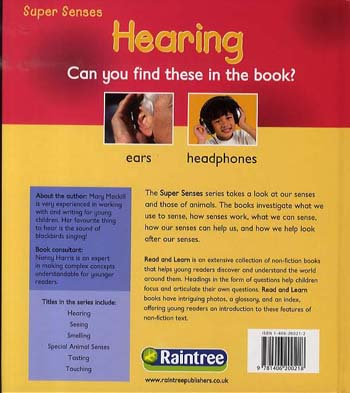 Hearing - Read and Learn: Super Senses (Hardback)