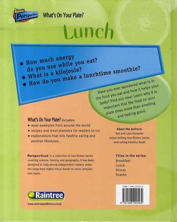 Lunch - Raintree Perspectives: What's On Your Plate? (Hardback)