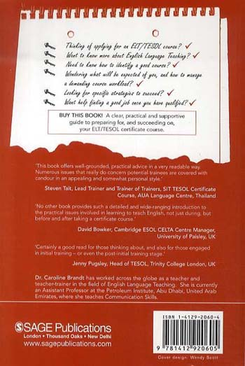 Success on your Certificate Course in English Language Teaching: A guide to becoming a teacher in ELT/TESOL (Paperback)