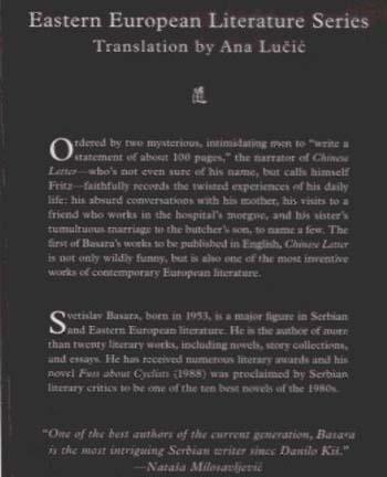 Chinese Letter - Eastern European Literature Series (Hardback)