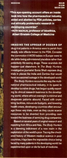 The Body Hunters: Testing New Drugs on the World's Poorest Patients (Hardback)