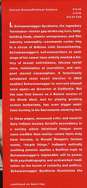 Schwarzenegger Syndrome: Politics and Celebrity in the Age of Contempt (Hardback)