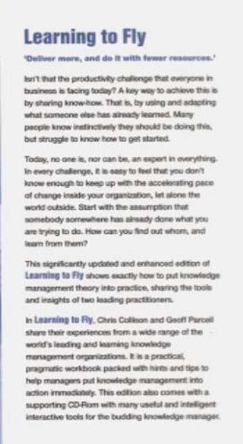 Learning to Fly - Practical Knowledge Management From Leading and Learning Organizations 2E (Paperback)