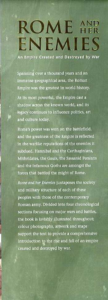 Rome and Her Enemies: An Empire Created and Destroyed by War - General Military (Hardback)