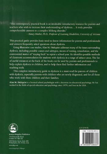An Introduction to Dyslexia for Parents and Professionals - Jkp Essentials (Paperback)