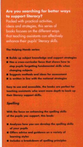 Supporting Spelling - Helping Hands (Paperback)
