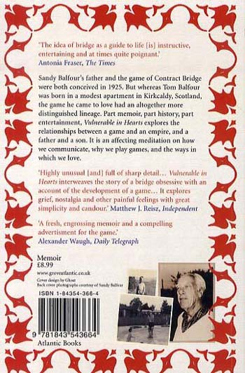 Vulnerable in Hearts: A Memoir of Fathers, Sons and Contract Bridge (Paperback)